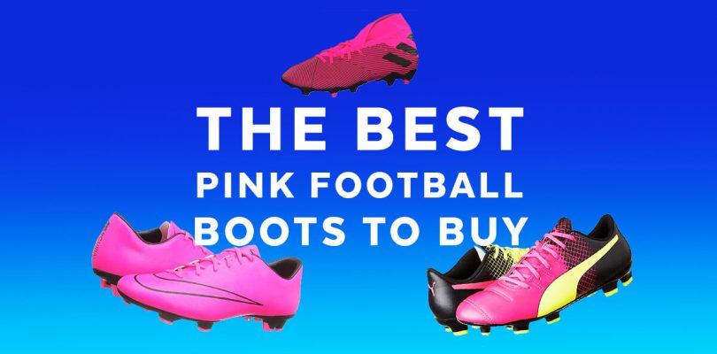 light pink football boots